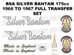 BSA Bantam Silver 1966 to 1967 Transfer Decal Set